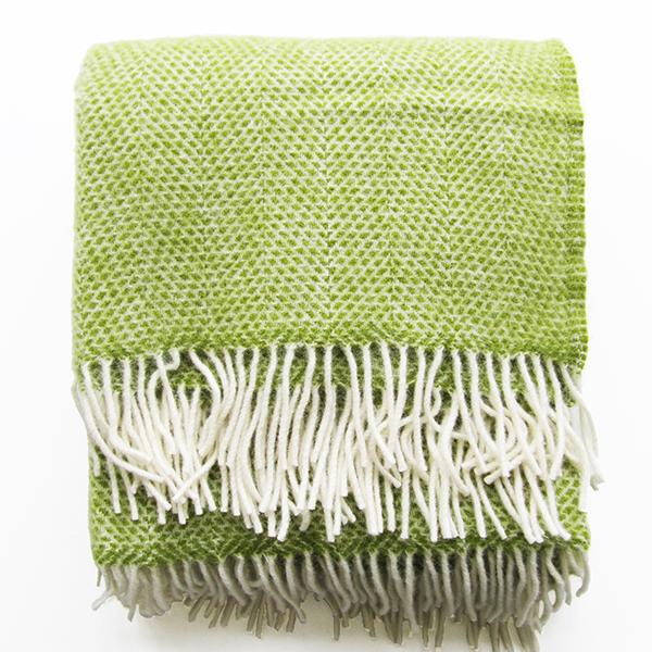 mosaic-wool-throw-green
